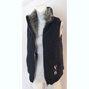 Victoria's Secret Faux-Fur Reversible Vest